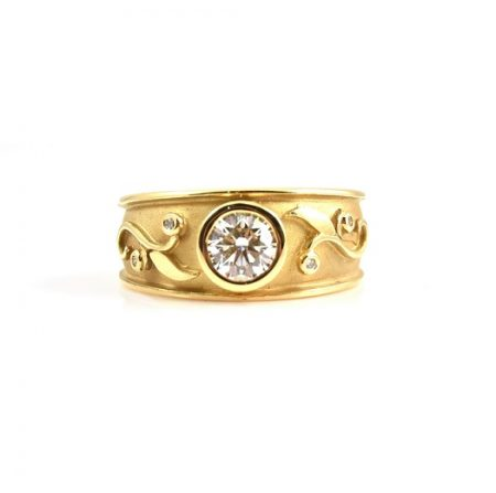 Art Nouveau Style Diamond Ring   B22413