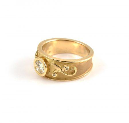 Art Nouveau Style Diamond Ring | B22413