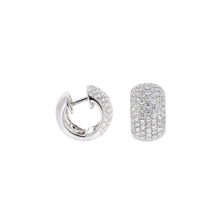Pave Set Diamond Huggie Earrings | B20338