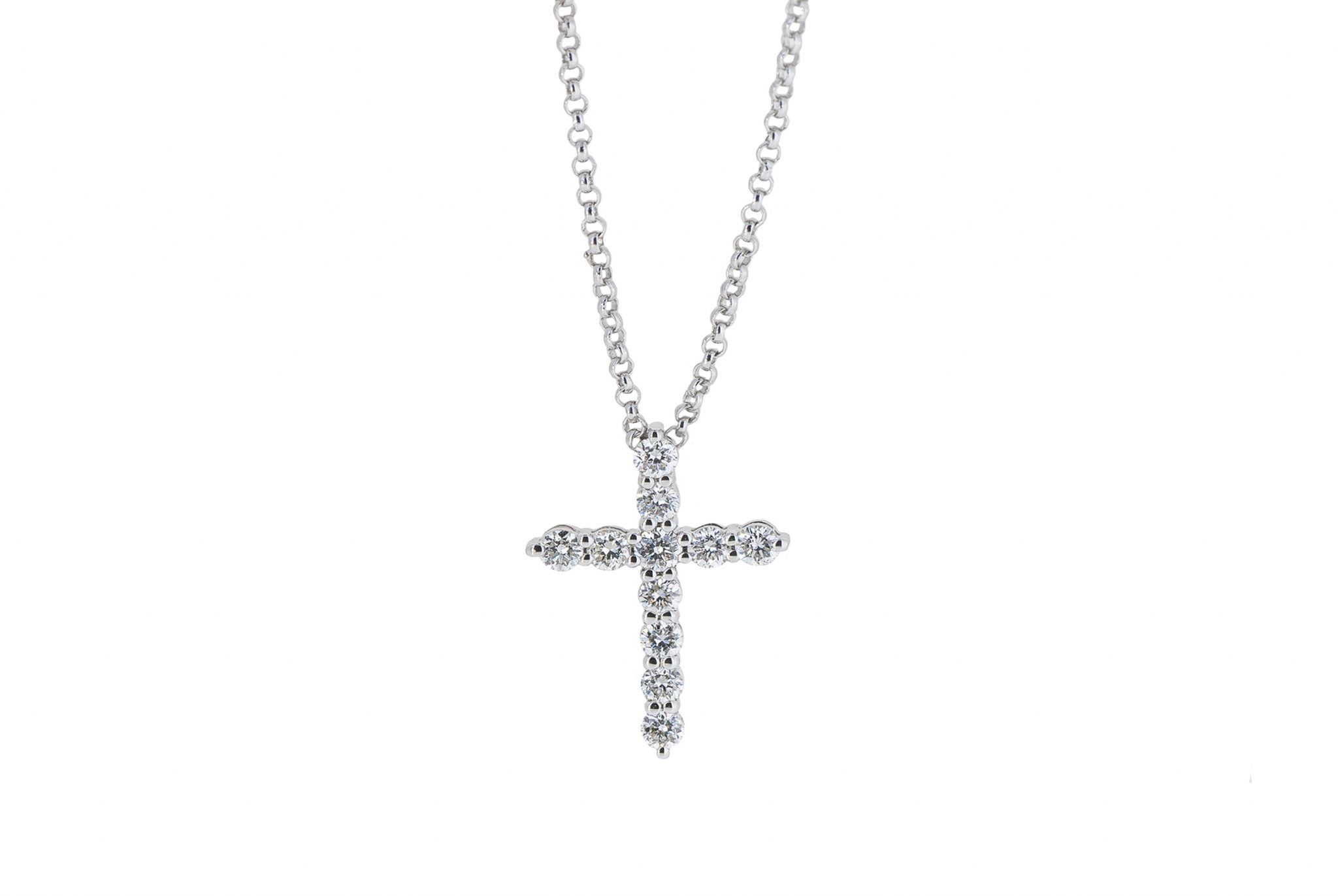 Claw Set Diamond Cross Pendant | B20348