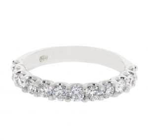 Half Way Scalloped Diamond Ring | B20712
