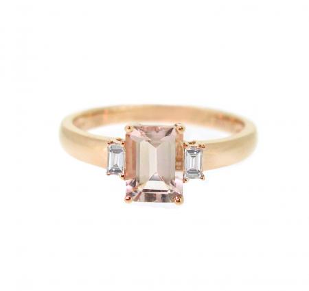 Morganite Trilogy Ring | B20759