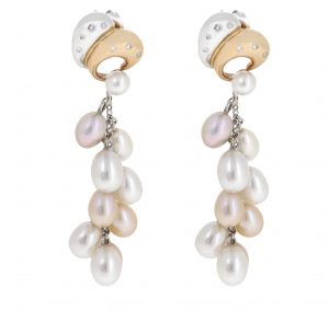 Two Tone Fresh Water Pearl Earrings | B20766