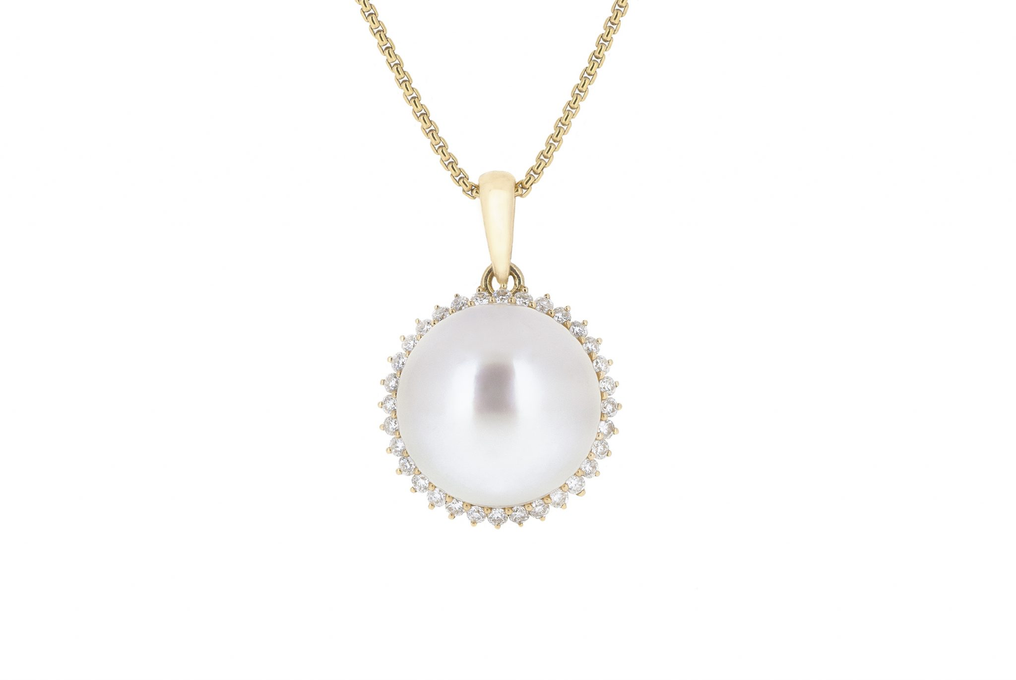 Yellow Gold South Sea Pearl Pendant | B20434
