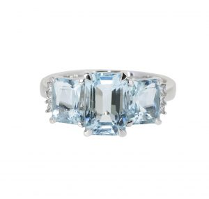 aquamarine trilogy ring | B20837(1)