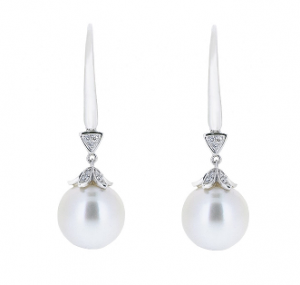 Deco Style South Sea Pearl Earrings | B15549