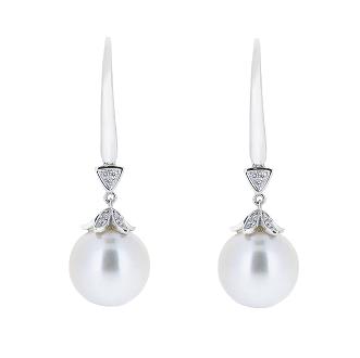 Deco Style South Sea Pearl Earrings | B15549