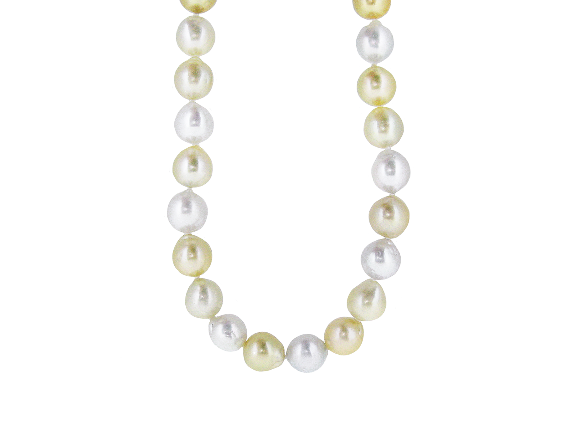 Gold And White South Sea Pearl Strand | B16320