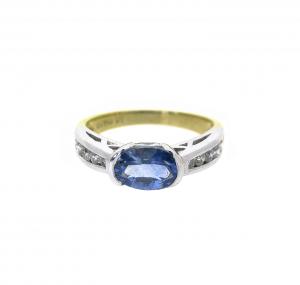 sapphire and diamond ring   B18679