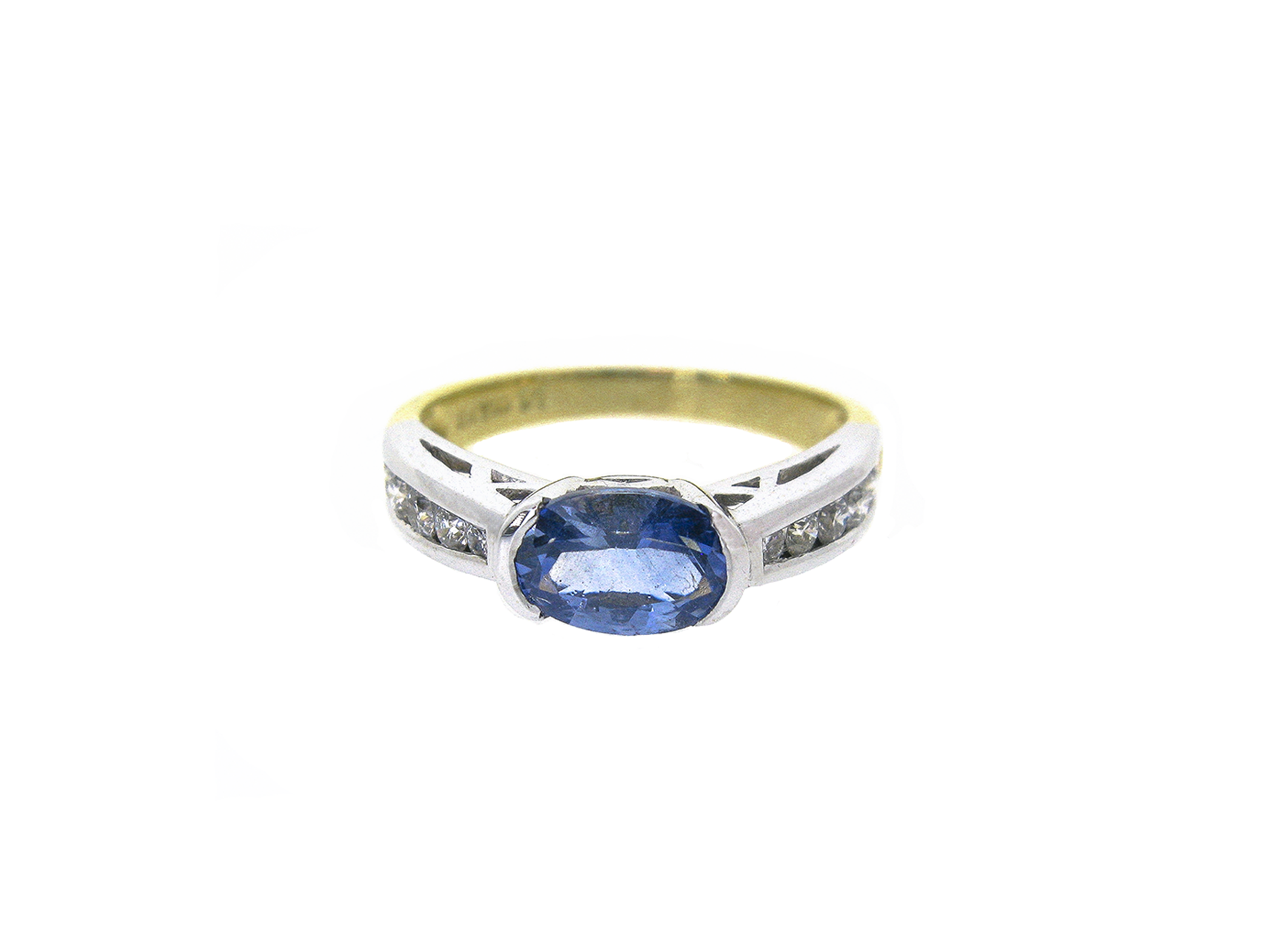 sapphire and diamond ring | B18679