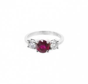 Ruby and Diamond Trilogy Ring | B18707