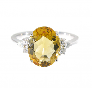 Citrine and Diamond Dress Ring | B20220