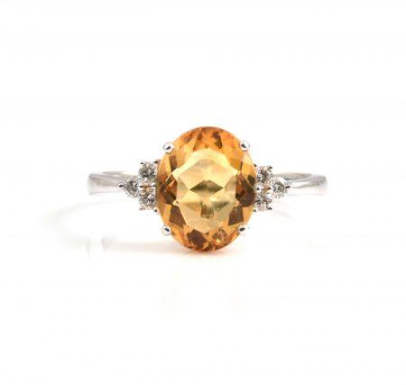 Citrine and Diamond Dress Ring | B20220