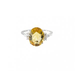 Citrine and Diamond Dress Ring   B20220