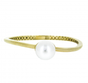 Yellow Gold South Sea Pearl Bangle | B20555
