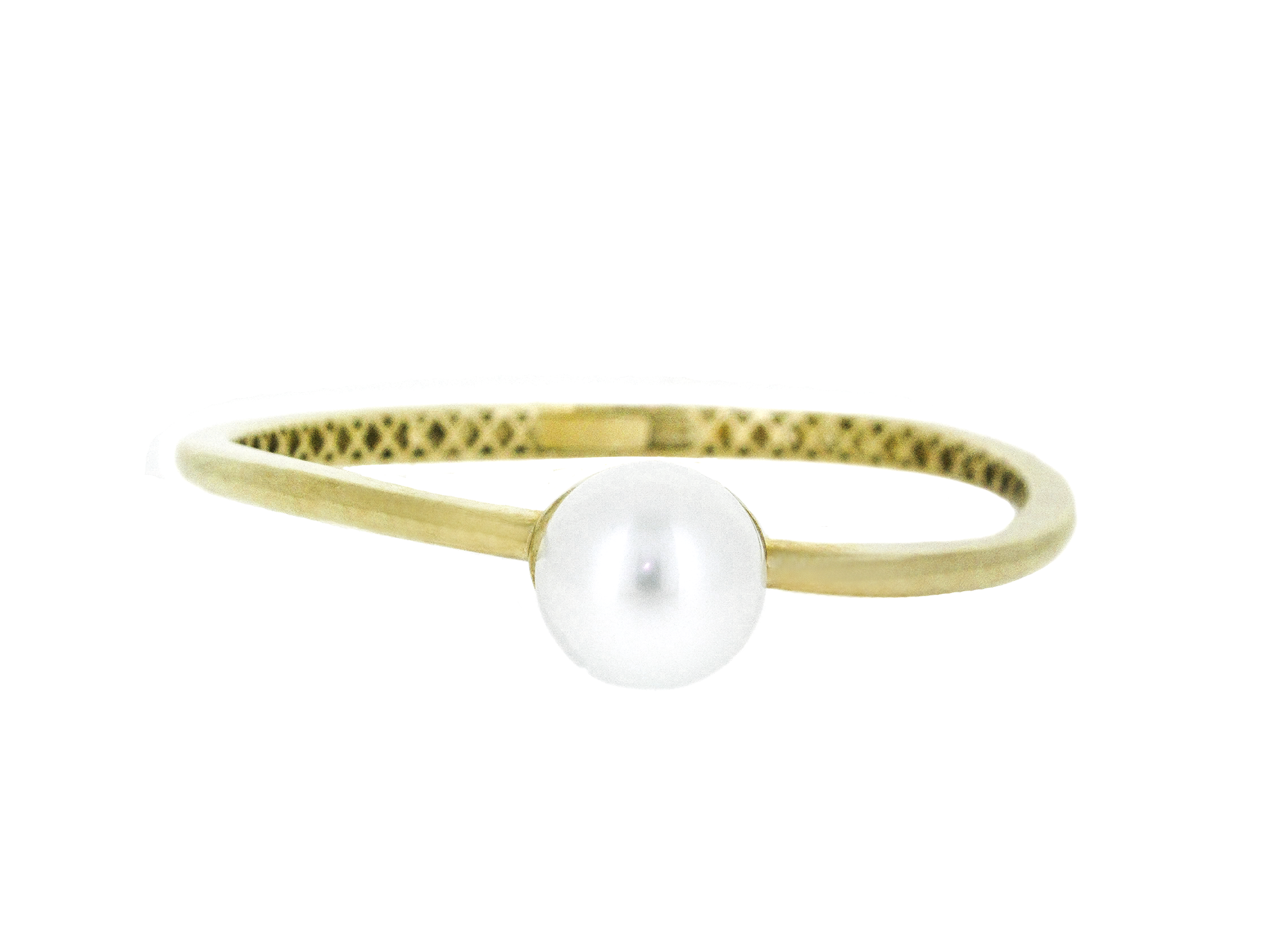 Yellow Gold South Sea Pearl Bangle | B20555