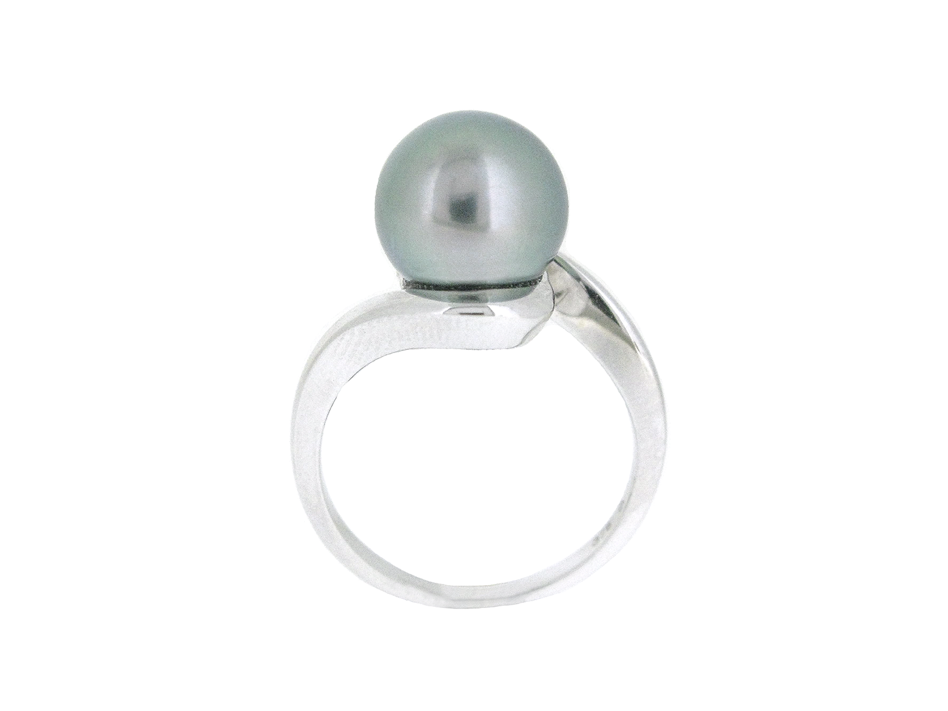 Tahitian South Sea Pearl Twist Ring | B20595
