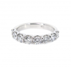 Large Scalloped Diamond Ring | B20828