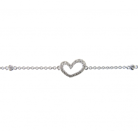Diamond Set Heart Bracelet | B20923