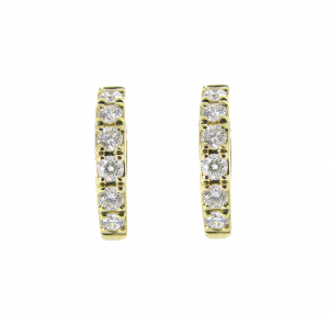 Claw Set Diamond Hoop Earrings | B20973