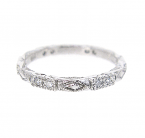 Patterned Diamond Wedding Ring | B20977