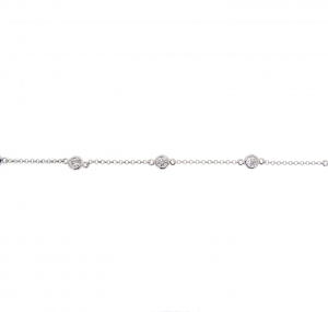 Bezel Set Diamond Bracelet | B21007