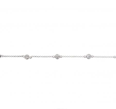 Bezel Set Diamond Bracelet | B21007
