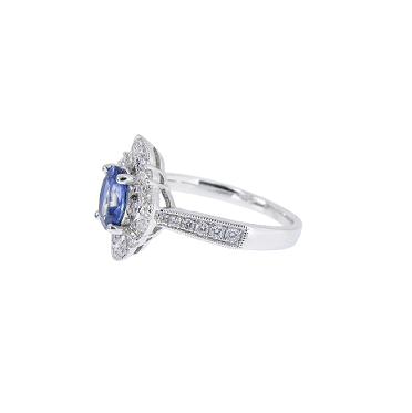 Sapphire And Diamond Deco Style Ring   B21009