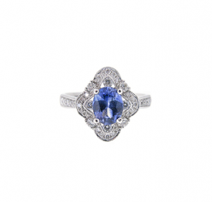 Sapphire And Diamond Deco Style Ring | B21009