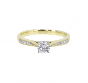 Two Tone Diamond Engagement Ring | B21011