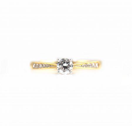 Two Tone Diamond Engagement Ring | B21011