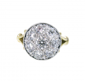 Star cluster diamond ring | B21015
