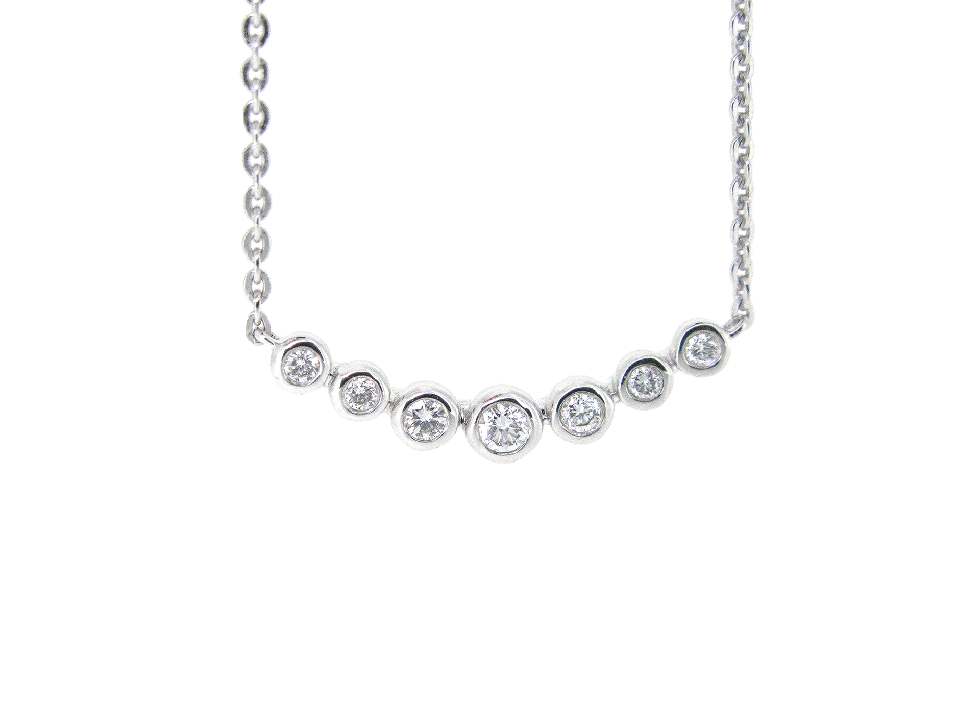 collections necklace zirconia diane pear gold set cubic bezel rose cz products necklaces shaped