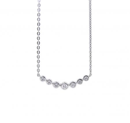 Bezel Set Diamond Bar Necklace   B21031