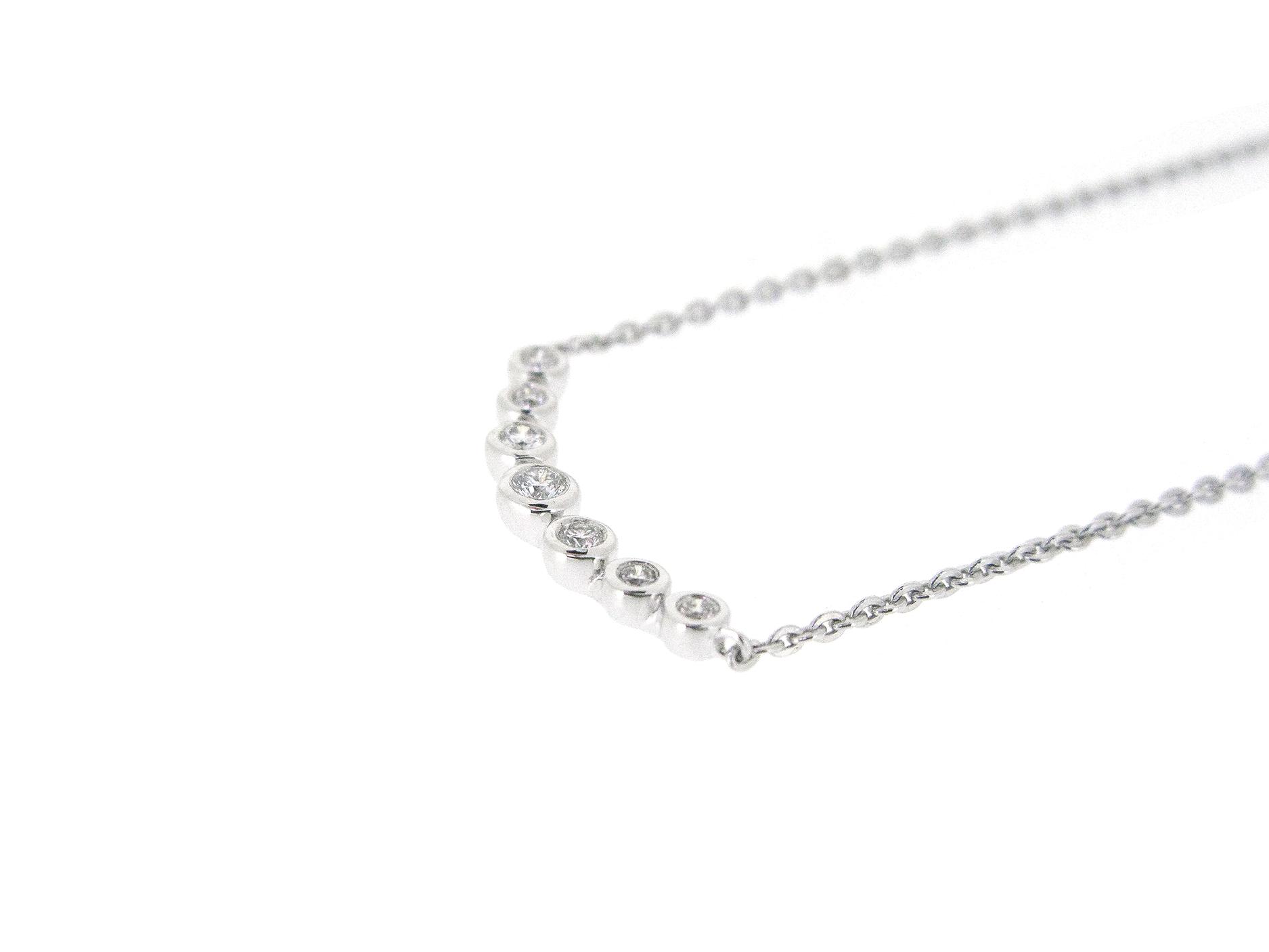 Bezel Set Diamond Bar Necklace | B21031(2)