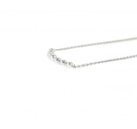 Bezel Set Diamond Bar Necklace   B21031(3)