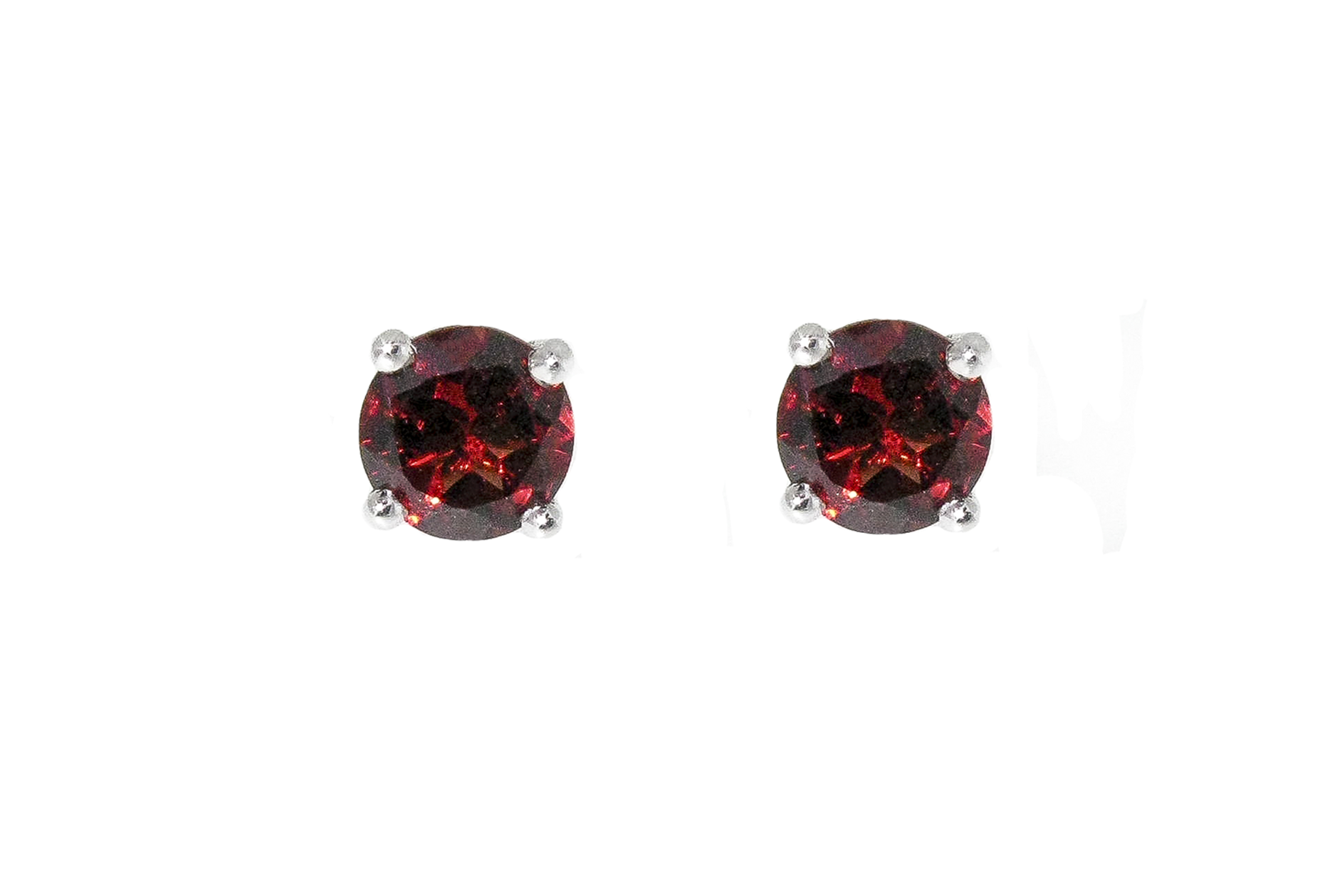 Four Claw Garnet Stud Earrings | B19050