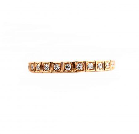 Square Set Diamond Wedding Ring   B20295