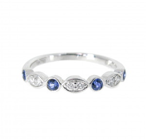 Diamond and Sapphire Band | B20822
