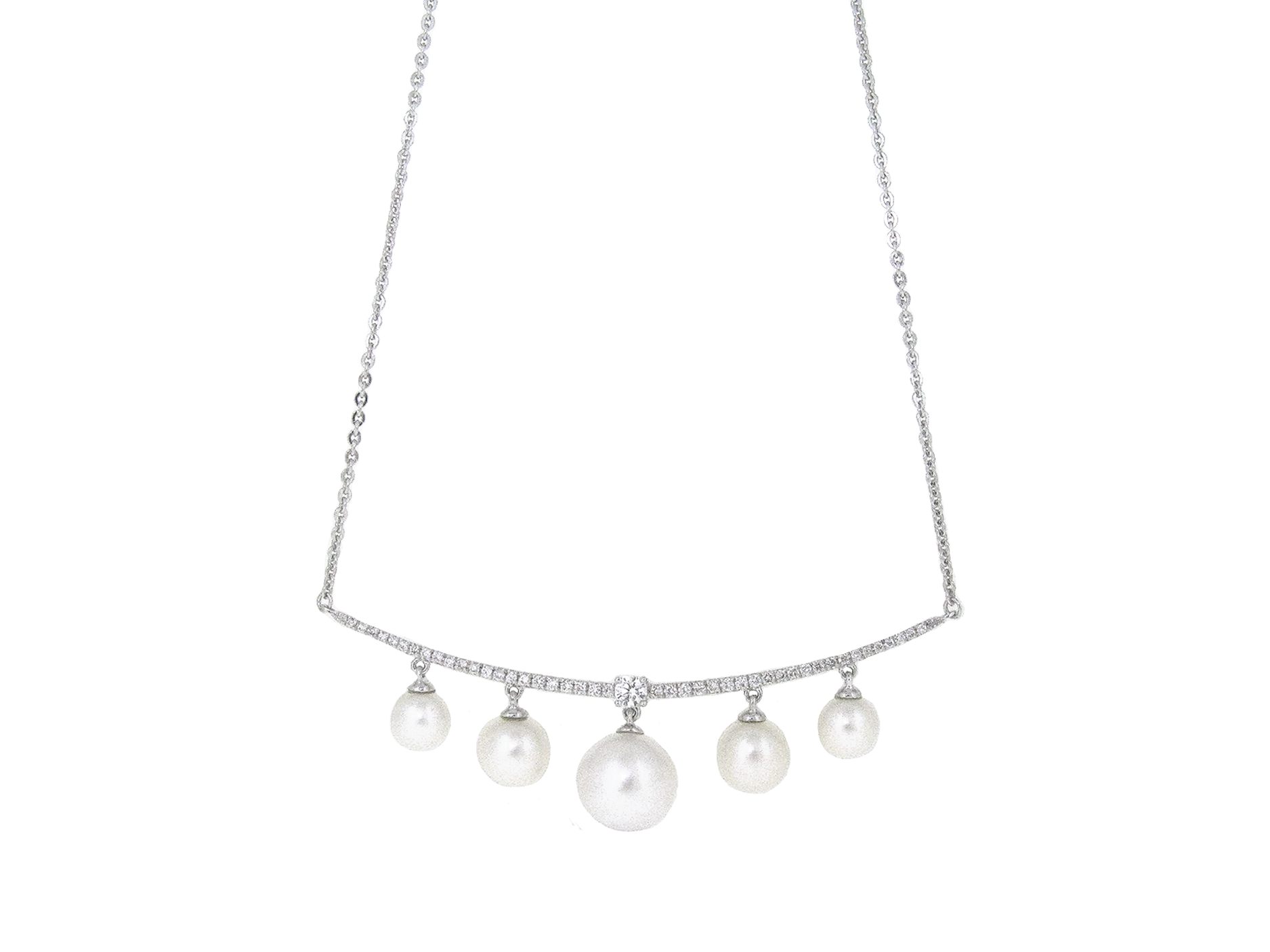 Dress Fresh Water Pearl And Diamond Necklace | B20893
