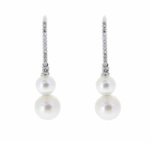 Double Fresh Water Pearl Earrings | B20894