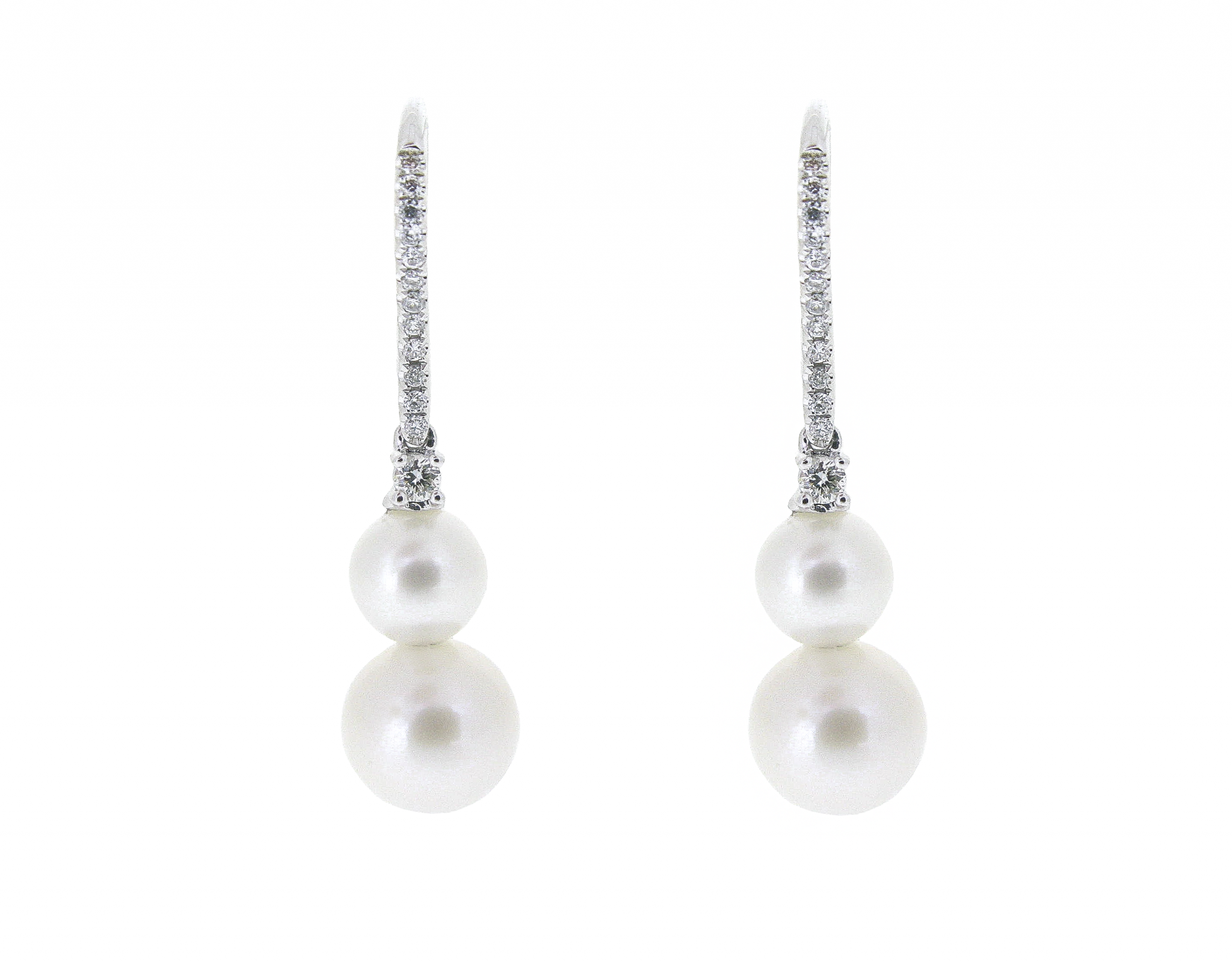 Double Fresh Water Pearl Earrings | B20894