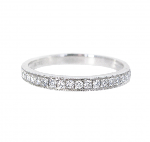 Bead Set Diamond Wedding Band | B21052
