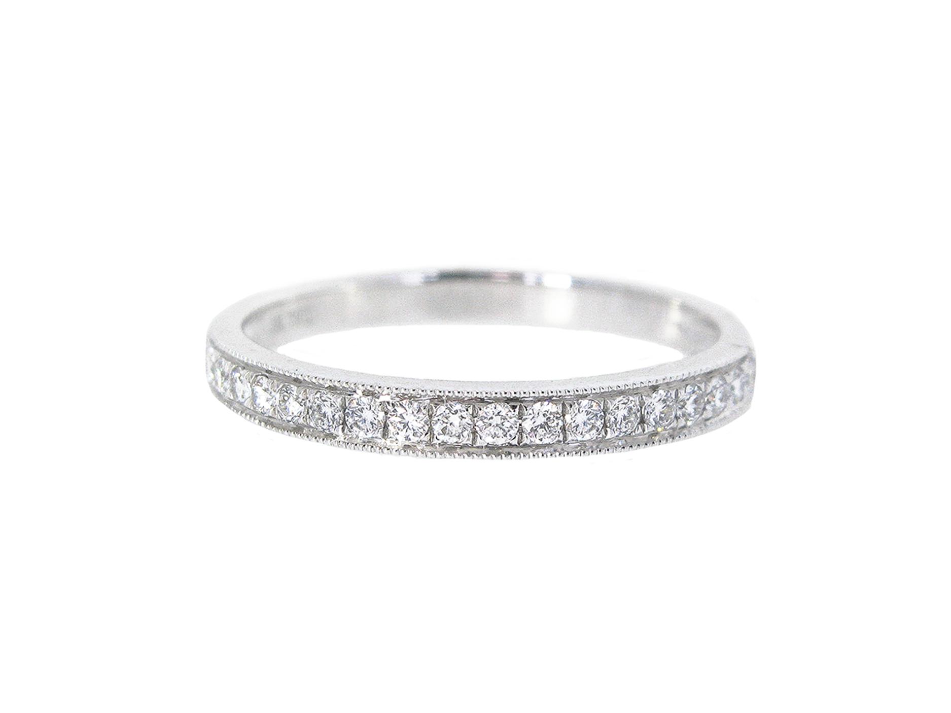 Bead Set Diamond Wedding Band | B21052