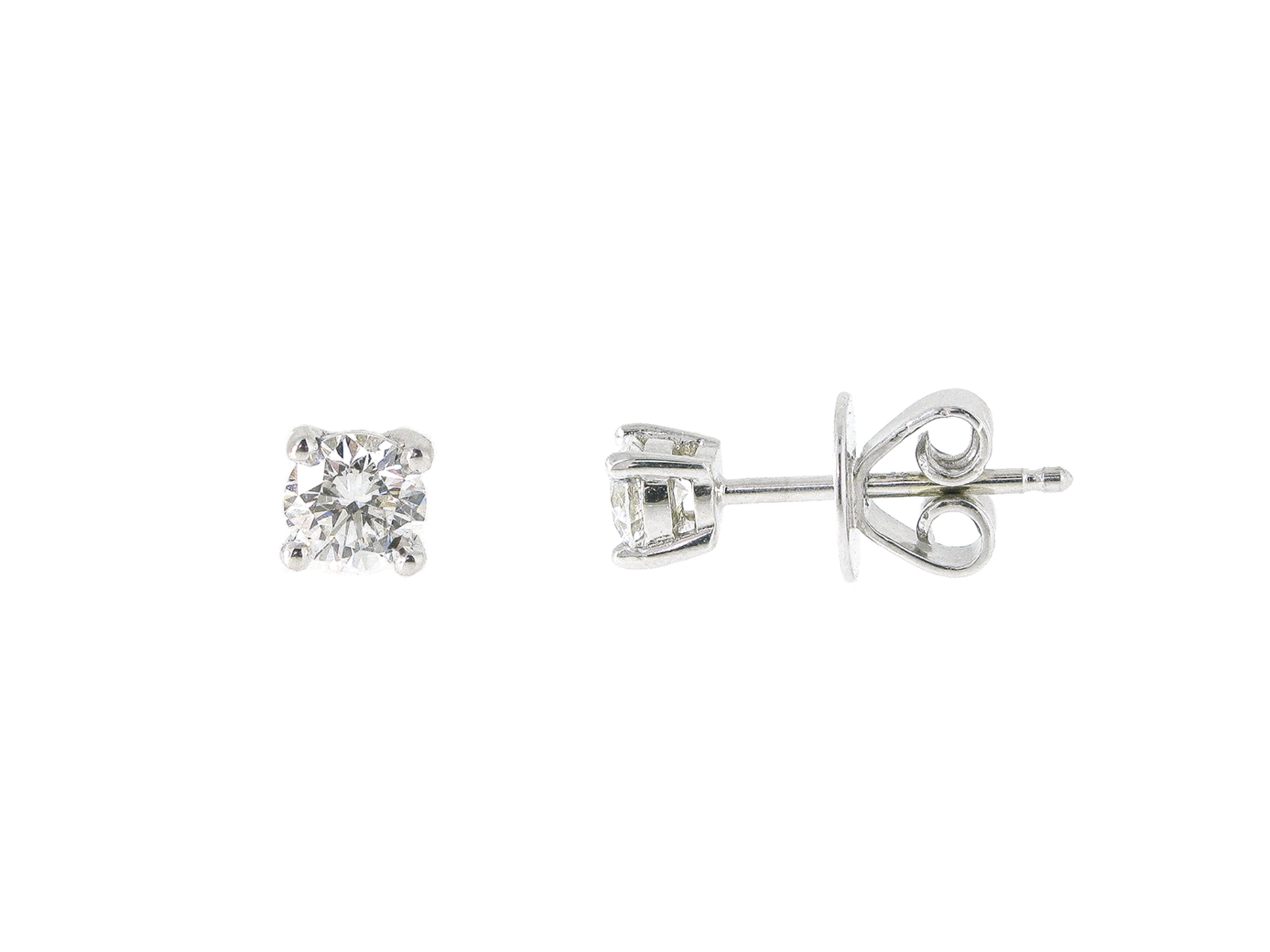 Four Claw Diamond Stud Earrings | B21062