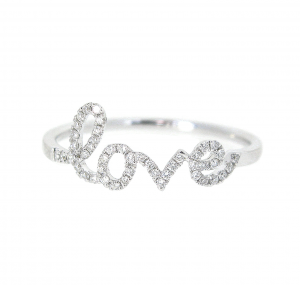 Diamond Set Love Ring | B21079