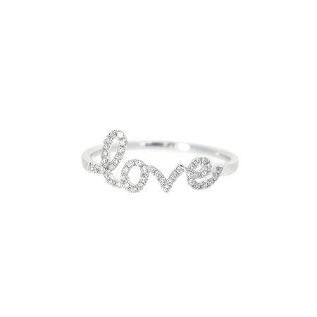 Diamond Set Love Ring   B21079