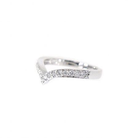 V Shape Diamond Set Ring | B21080