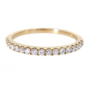 Yellow Gold Claw Set Diamond Wedding Ring | B21081