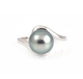 Tahitian South Sea Pearl Twist Ring   B20595